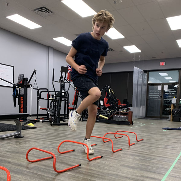 Sports training matrix in motion in Newmarket Ontario.